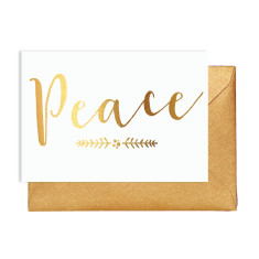 Peace gold foil card