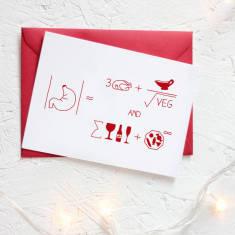 Christmas formula for dinner card packs