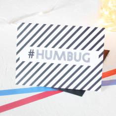 Christmas hashtag humbug card packs