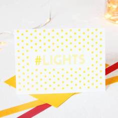 Christmas hashtag lights card packs