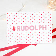 Christmas hashtag Rudolph card packs