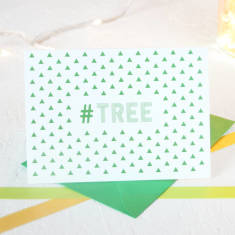 Christmas hashtag trees card packs