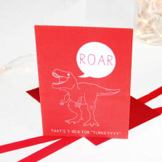 Christmas hungry T Rex dinosaur card packs