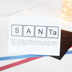 Christmas periodic table Santa card packs