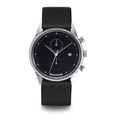 Hypergrand chrono watch in silver black