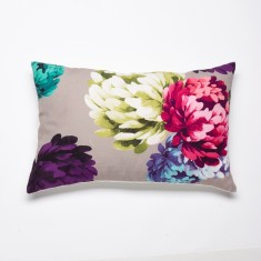 Chrysanthemum beige cushion
