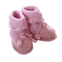 Chunky booties in sweet pink