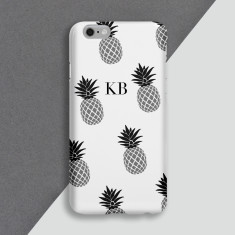 Monochrome Pineapple Personalised Phone Case