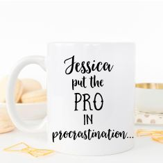 Personalised Procrastinator coffee mug