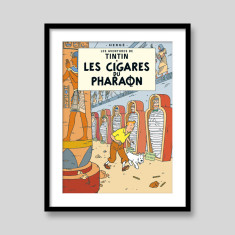 Les Cigares Du Pharaon by Herge Tintin art print