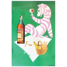 Cinzano vintage zebra poster