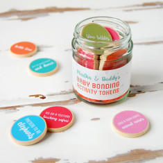 Personalised Daddy And Baby Bonding Tokens Jar