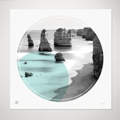 Great Ocean Road circle print