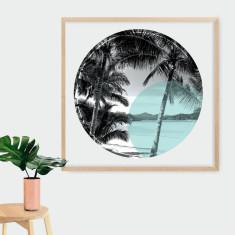 Palm Cove circle print