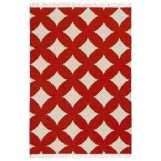 Circles scarlet rug