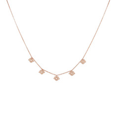 Beleza Choker in Rose Gold Plate