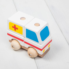 Wooden Stacking Toy Ambulance