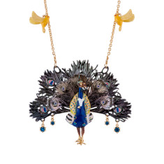 Léon The Peacock Spreading Its Tail Necklace