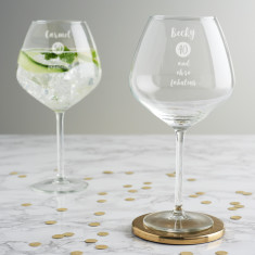Personalised Special Age Birthday Goblet Glass For Her