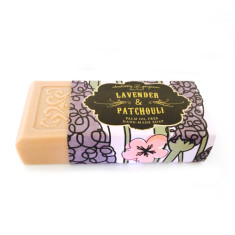 Lavender and patchouli palm oil free soap