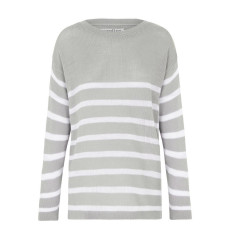 Striped Stephanie Sweater in Grey