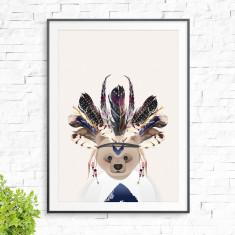 Tribal bear print (various colours)