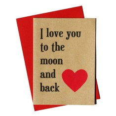 I love you to the moon and back handmade card