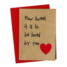 How sweet it is to be loved by you handmade card