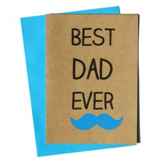 Best dad ever handmade Father's Day card
