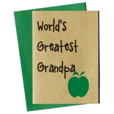 World's greatest grandpa Father's day card