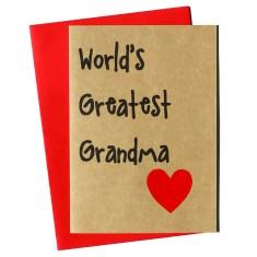 World's greatest grandma handmade mother's day card