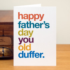 Funny old duffer father's day card