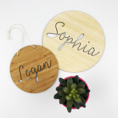 Personalised Open Script Name Wall Hanging