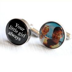 Personalised with your photograph father of the bride cufflinks