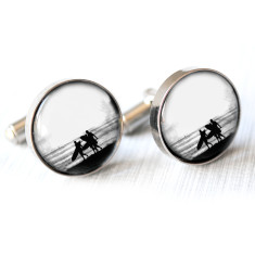 Vintage surfer cufflinks (various colours)