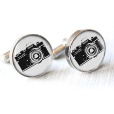 Vintage camera cufflinks