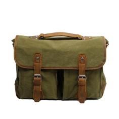 Green Canvas Shoulder Bag