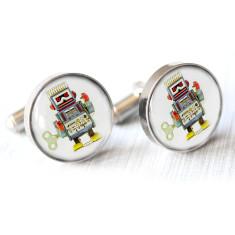 Vintage robot cufflinks
