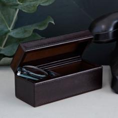 Leather glasses box