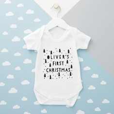 Personalised First Christmas Babysuit