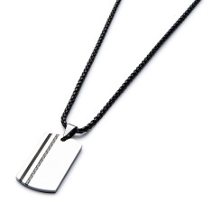Two-tone carbon fibre necklace