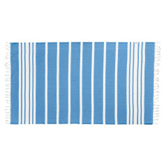 Classic blue twist Turkish towel