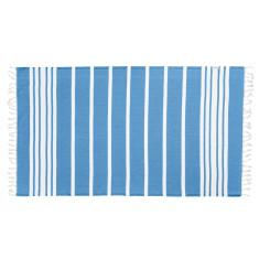 Classic blue twist Turkish towel