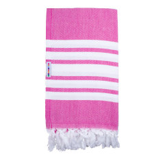 Classic pink twist Turkish towel