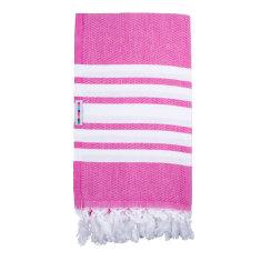 Classic pink twist Turkish towel