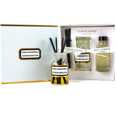 Apothecary clear glass diffuser kits