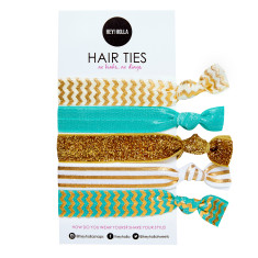 No Kink hair ties in Cleopatra print