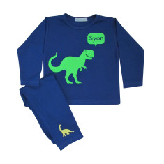 T-rex personalised pyjamas