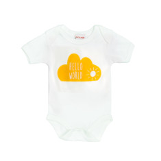 Hello world cloud baby grow suit