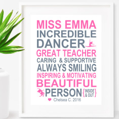 Dancing teacher print